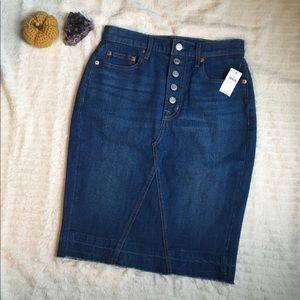 GAP Denim NWT High Waisted Buttoned Skirt